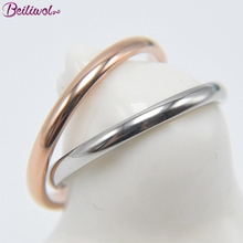 Beiliwol Tail Rings for Women Stainless Steel Rose Gold Color Korean Fine Jewelry Men Fashion Accessories 2mm Toe Ring Kid Gift(China)