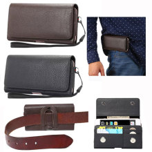 Vintage PU Leather Horizontal Phones Loop Belt Holster Pouch Bag Case for iPhone 5 6 6S 7 Plus for Samsung Galaxy S5 S6 S7 Note