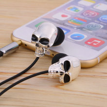 1pc Unique Design 3.5mm In ear earphone High Performance Metal skull headphone,  C1