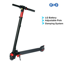 Foldable Electric Scooter Kick Scooter Hoverboard Standing Scooter Adjustable pole LG battery easy folding Scooter(China)
