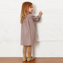 2017 New Toddler Baby Autumn Long Sleeve Korean Clothes Causal Girls Dress Floral Collar Kids Cotton Dresses Children Clothing(China)