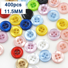400pcs mix The resin color pearl button shirt for men and women knitted button DIY manual material button 11.5mm C4-6(China)
