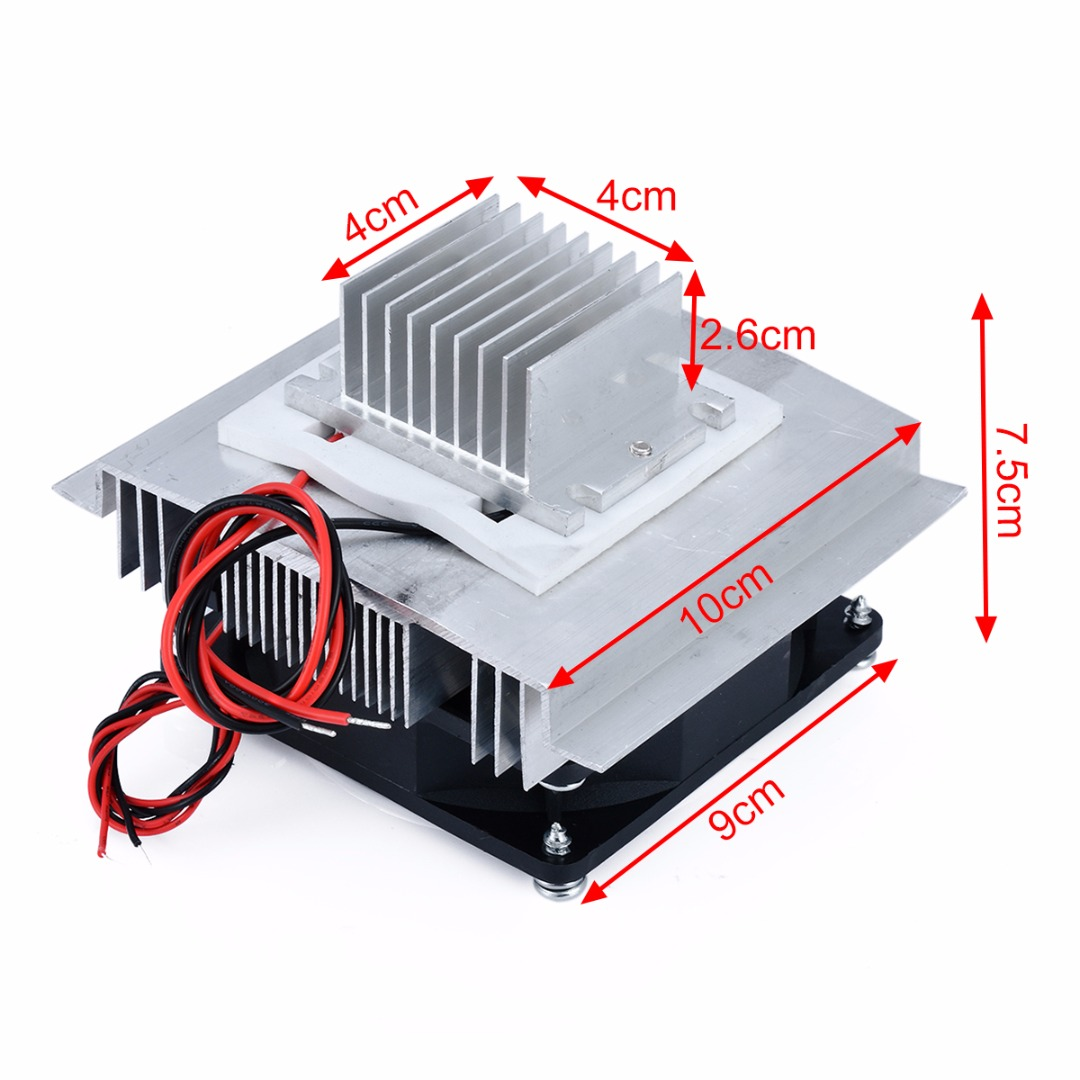 60W Thermoelectric Peltier Cooler Refrigeration Semiconductor Cooling System DIY