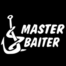 Gangbian anchor Master Baiter Colorful abstract artistic hand lettering Car Sticker For Truck Window Bumper Vinyl Decal 9 Colors