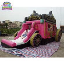2017 New Design PVC Inflatable Princess Carriage Slide Bouncy Castle With Cheap Prices