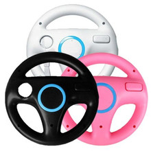 Kart Racing Steering Wheel For Nintendo Wii Games Remote Controller Console Super Mario Kart Game Accessories black white pink(China)