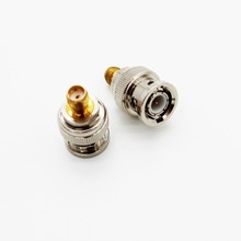 XQF BNC Male to SMA Female RF Coaxial Coax Barrel Coupler Adapter Connector SMA-Female to BNC-Male Walkie Talkie Antenna Adaptor