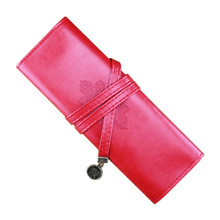 Affordable High Quality Vintage Roll Leather Make Up Cosmetic Pen Pencil Holder Pouch Purse Bag Box Gift