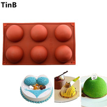 6 Cavitie Hemisphere Dome Silicone Half Sphere DIY Silicone Cake Mold Soap Mold Jelly Pudding Silicone Chocolate Mold Soap Molde