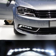 2017 Hot selling New    2X 6LED White Car Driving Lamp Fog 12v Universal DRL Daytime Running Light very nice Vicky