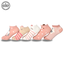 Buy 10pcs=5Pairs Cute Animal Funny Cotton Ankle Socks Female Kawaii Soft Summer Short Girls' Socks Slippers Women Casual Boat Socks for $5.99 in AliExpress store