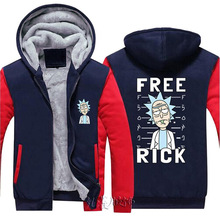 Dropshiping Rick and Morty Hoodie Logo Winter JiaRong Fleece Coat Jacket Men Women Sweatshirts Free Shipping USA Size