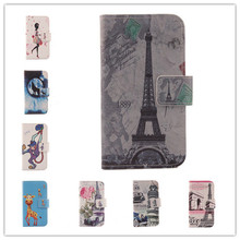 Accessory Hot Cartoon Flip Cover Skin Pouch With Card Slot Painted PU Leather Case Phone Case For Medion Life P4501 MD 98428