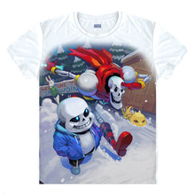 Milk Silk!Game Undertale Skull brothers cosplay t-shirt summer top tshirt in stock free shipping(China)