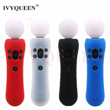 IVYQUEEN 1 pcs Studded Anti-slip Silicone Rubber Cover Protective Skin Case for Sony PS VR Move Motion Controller Black Blue Red(China)