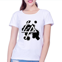 Linkin Park T Shirt Women Modal White Famous Rock Band Logo Printed T-shirt Women Asian Size Breathable Fabric Clothes(China)