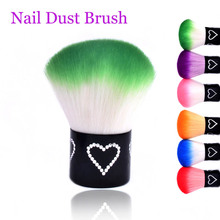 Nail Art Dust Cleaner Nail Dust Brushes Colorful Nail Beauty DIY Accessory For Acrylic UV Gel 2017 New Cute Gift Christmas Sale(China)