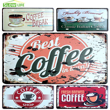 Coffee Car License Metal Plate Vintage Home Decor Tin Sign Bar Pub Cafe Decorative Metal Sign Metal Plaque Metal Art Poster(China)