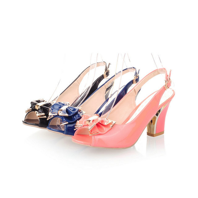 Women square heel sandals Sexy Woman New Design Wedding Party Thick Heels Shoes Dancing High Heel Sandals large size ljwl-80<br><br>Aliexpress