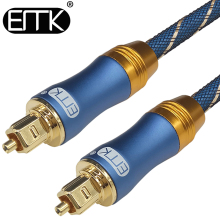 EMK 2017 new 5.1 Digital Sound SPDIF Toslink Cable Optical Cable Fiber Optical Audio Cable with braided jacket