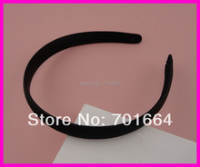 10PCS 18mm Black Fabric Wrapped Plain Plastic Hair Headbands no teeth at  free shipping,BARGAIN for BULK