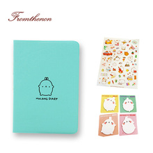 Fromthenon 2017-2018 Cute Kawaii Notebook Cartoon Molang Rabbit Journal Diary Planner Notepad for Kids Gift Stationery in Sets(China)