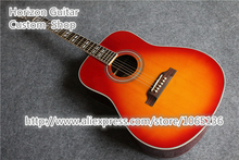 Hot Selling Hummingbird Acoustic Guitar Dreadnought CS Cherry Sunburst China Guitarra Electrica For Sale