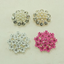Free Shipping Mix Flat Back Metal Buttons Wedding Embellishment Headband