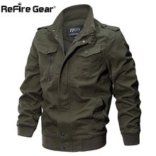 ReFire Gear Winter Autumn Military Style Tactical Jacket Men Cotton Army Pilot Coat Brand Clothing Casual Air Force Man Jackets(China)