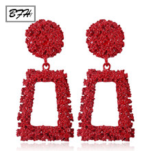 BFH Luxury Metal 긴 큰 Drop Earrings 대 한 Women Girl 패션 Charm 자 여성 리-빈티지 Earring 보석 2018 Gift(China)