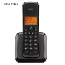 German Language Wireless Phone Fixed Telephone Digital Cordless Phone with Call ID Backlight Black Telefone For Home Office