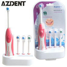 Waterproof  Tooth Whitening Electric Toothbrush With Brush Heads Replacement Teeth Whitener Cleaning Oral Hygiene Tooth Brush