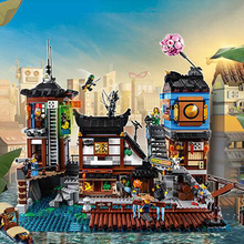 Ninjagoing 06083 3979Pcs Building Series Compatible Legoing 70657 Movie City Docks Buidling Blocks Bricks Kit Toys
