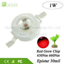 20pcs High Quality Grow LED 1W 660nm Deep Red LED Chip 630nm Plant Growth For DIY LED Grow Light Bulb Hydroponics