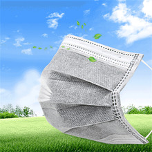 50pc/Pack Disposable Professional Medical Anti Dust Healthy Carbon Face Mask new(China)