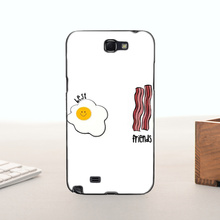 Top Detailed Popular Fried Eggs Ham bacon best friends For  note2 7100 case