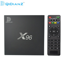 Hot!DQiDianZ X96 Android 6.0 S905X Quad Core Smart TV Box Set Top Box support 2.4G Wireless WIFI