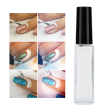 10ml White Easy Peel Off Nail Glue Anti overflow Peel Off Liquid Latex For False Nail Tips Stickers Decoration For Women(China)