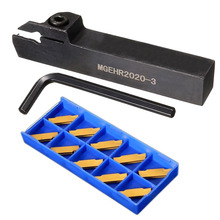 1pc MGEHR2020-3 Lathe Turning Tool Holder Right Hand Boring Bar + 10pcs MGMN300-M Inserts with Wrench
