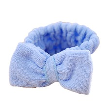 1pc Soft Elastic Big Bowknot Women Headband Hair Coral Velvet Headbands Bath Wash Face Spa Makeup Band Beauty Shower Head-Ware