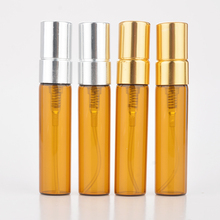 100Pieces/Lot 5ML ty Portable Amber Glass Perfume Bottles Atomizer Portable Contenitori cosmetic Vuoti With Aluminium Pump