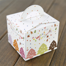 30Pc/Lot Christmas Apple Box Handheld Cupcake Cookie Candy Boxes Gift Packaging Paper Boxes for Merry Christmas Party Supplies(China)
