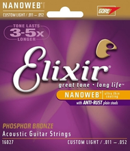 Nanoweb Custom Light Acoustic Guitar Strings Elixir 16027 Acoustic Strings 011 015 022 032 042 052