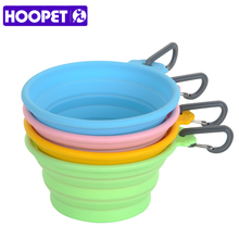 HOOPET New Listing Pet Dogs Silicone Folding Bowl Out Portable Safe Non-toxic Durable Save Space Cost-effective(China)