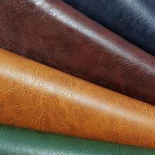 1 Meter Coloful Crazy Horse Leather Fabric For Briefcase Bag Belt Wallet Leather Upholstery Car Holographic Notebook Furniture(China)