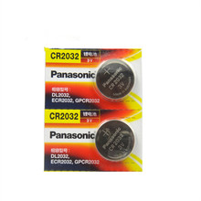 2 X original brand new battery for PANASONIC cr2032 3v button cell coin batteries for watch computer cr 2032(China)