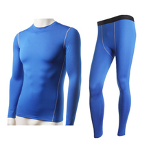 New Arrivals Winter Warm Men's Thermal Fleece Underwear Set 2Pc Long Johns Compression Tight Tops&Bottoms Black Blue Grey White