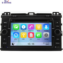 Free Shipping Wince 6.0 Car DVD for Toyota PRADO Cruiser 120(2003-2009) Top Car Styling GPS Navigation BT Free Map Car Stereo