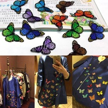 10PCS/Lot Butterfly Patches For Clothing Embroidery Sew Iron On Patches Fabric Clothes Sticker Applique DIY Ornaments Decorative