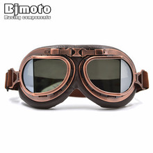 Vintage Helmet Motocross Goggles Clear Steampunk Goggles Sport Sunglasses For Motorcycle Cafe Racer Dirt Bike(China)
